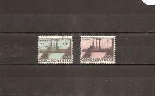 """Czechoslovakia 1962 SG1319-20 2v Mtd/CTO """"Aurora""""-Russian Cruiser-45th Anniversa"""