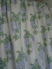 "Laura Ashley Vintage Wisteria Wide & Long Lined Curtains 101"" W x 80"" D"