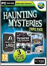 HAUNTING MYSTERIES Triple Pack PC Game WITCHVILLE  Hidden Object NEW