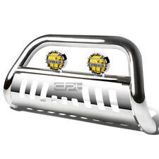 For 02 09 Dodge Ram 150025003500 Chrome Bull Bar Grille Guardamber Fog Light Fits 2005 Dodge Ram 1500
