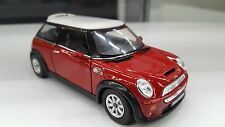 Mini Cooper S Coche Rojo Juguete modelismo 1/28 Modelo a escala COCHE DE METAL