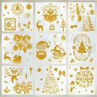Wall Stickers Decorative Gold Santa Removable Stickers Wall Home Waterproof