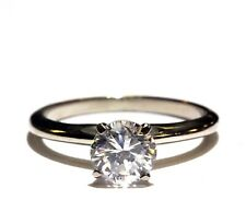 GIA certified I1 F 14k white gold 1.03ct diamond solitaire engagement ring 2.5g