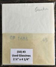 """50 Used Glassine Envelopes #3 - 2 1/2"""" x 4 1/4"""""""