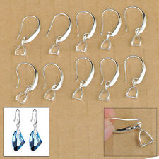 50X Lot Jewelry Findings Earring Making Bail Pinch Hook Ear Wires For Crystal