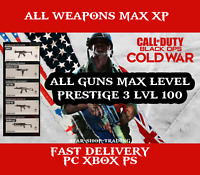 Call of Duty Black Ops Cold War ALL Weapons MAX LVL XP - Prestige 3 LVL 100