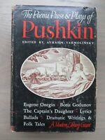 POEMS PROSE & PLAYS OF PUSHKIN Edited by Yarmolinsky ~ 1936 1st Edition ~ HC/DJ