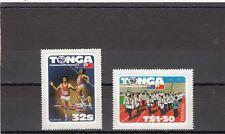 a141 - TONGA - SG823-824 MNH 1982 COMMONWEALTH GAMES BRISBANE