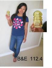 Light YELLOW  Glass insulator  Cd 112.4 private issue  B&E