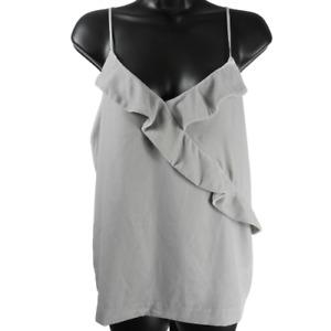 J.CREW Gray Velvet Sleeveless Top Women's Size 6
