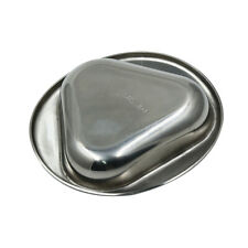 Stainless Steel Dessert Sushi Soy Sauce Dish Plate Snacks Dish Tray Bowl JJ