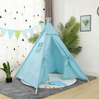 Kids Teepee Tent Indian Play Tent Cotton Canvas Child Playhouse Indoor Outdoor