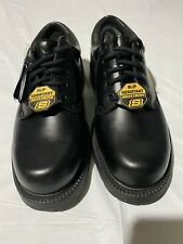 New Skechers Work Harvard Oxford Black Leather Dress Shoes Women 8.5 Extra Wide