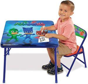Kids Play Activity Table PJ Masks Chair Set Desk Toddlers Mesa Sillas Para Niños