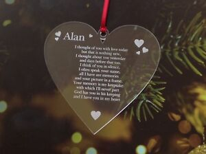 Personalised memorial Christmas Decoration Tree  Xmas  Bauble Gift Engrave