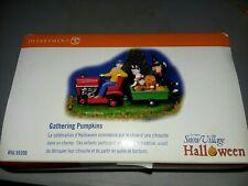 New ListingDepartment 56 Snow Village Halloween Gathering Pumpkins Tractor Wagon Nib