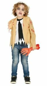 Boys Armless One Armed Zombie Halloween Fancy Dress Costume Childrens Outfit