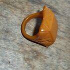 Vintage Bakelite CARAMEL Color Ring - SQUARE FACE  Retro Design