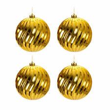 4er Christbaumkugeln-Set Große Weihnachtsbaumkugeln Schmuckkugeln Ø 15cm Gold