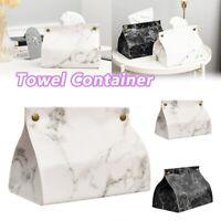 Leather Marbling Toilet Tissue Box Napkin Holder Case car box tissue holder
