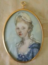 Painting Miniature Watercolour on Ivorine Queen Charlotte  by Josephine pile