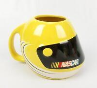 """NASCAR Yellow Helmet Design Ceramic Mug Cup Stock Car Racing 2003 Sherwood 5""""x4"""""""