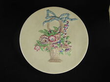 Clarice Cliff My Garden Basket Of Flowers Wall Plaque Charger Art Deco