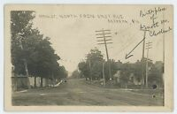 RPPC Main Street, North from East Ave MCKEAN PA Erie County Real Photo Postcard