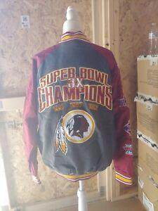 G-iii Redskins 3 Times Superbowl Champs Varsity Coat Jacket NFL size XL NFL