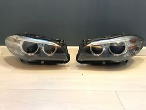 BMW OEM F10 F11 M5 5 Series LCI HELLA Front Xenon ADAPTIVE HeadLights Lamp RHD