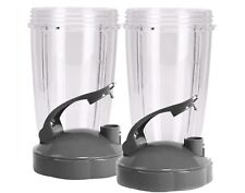 Blendin Flip Top To Go Lip Lid with 24oz Tall Cup for Nutribullet (2 Pack)