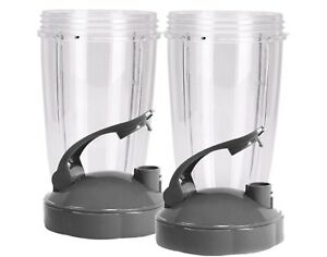 Blendin Flip Top To Go Lid & 24oz Tall Cup,Compatible with Nutribullet(2 Pack)