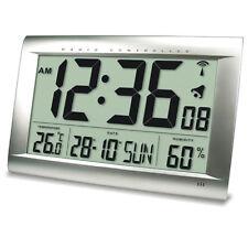Funkuhr Uhr XXL Jumbo 40 cm x 27 cm LCD sehr gro�Ÿes Display mit Innentemperatur