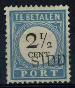 Netherlands 1881-94 SG#D156, 2.5c Postage Due P12.5x12 Type I Used #E84653