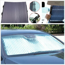Auto Car Retractable Aluminum Foil Front Windshield Visor Shade UV Curtain Cover