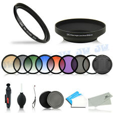 58mm UV CPL Graduated Color Filters+Adapter+Cap for Canon PowerShot G1X Mark II