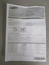 SAMSUNG QUICK START GUIDE LED TV SERIES 45 4000 5003