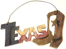 Texas Boot Wood Wall Decor Rustic Distressed New 19x12inches