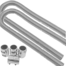 """2 Sets of 48"""" Stainless Steel Radiator Flexible Coolant Water Hose Kit & Caps"""