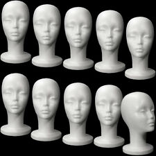 Mn-433 10 Pieces Female Styrofoam Mannequin Head with Long Neck