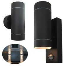 Up Down Outdoor Security Porch Outside Wall Door House Garden Twin Lights -BLACK