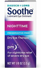 Bausch + Lomb Soothe Lubricant Nighttime Dry Eye Ointment, 0.125 Ounce (EXP 2021