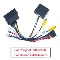 For Peugeot 408 3008 2008 Citroen C Android Radio Wiring Harness w/ Canbus Box