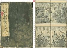 1789 Kinmozui Flower Picture Guidebook Japanese Original Woodblock Print Book