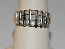 10K Gold band with Diamonds