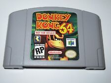 Donkey Kong 64 Not for Resale Gray Cart Nintendo 64 Ultra Rare