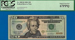 2004 $20 FRN (( Birthday / Anniversary )) PCGS Superb-Gem 67PPQ # EB00000097H-