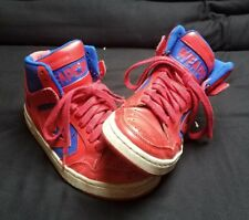 Converse Weapon Hi Tops Red Blue Sneakers Basketball Shoes Kids Boys 5.5 244546C