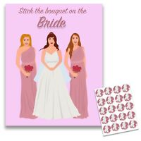 20 PLAYERS STICK THE BOUQUET ON THE BRIDE GAME HEN NIGHT PARTY GAMES ACCESSORIES