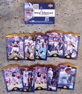 DALLAS COWBOYS TROY AIKMAN UPPER DECK 10 CARD SET